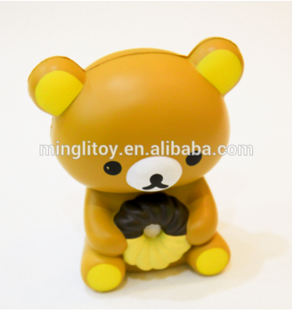Wholesale color customized moving pu foam bear toy